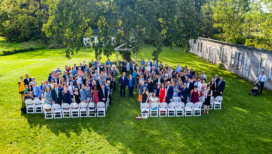 Wedding Guests Drone Photo - Sable Park Photography