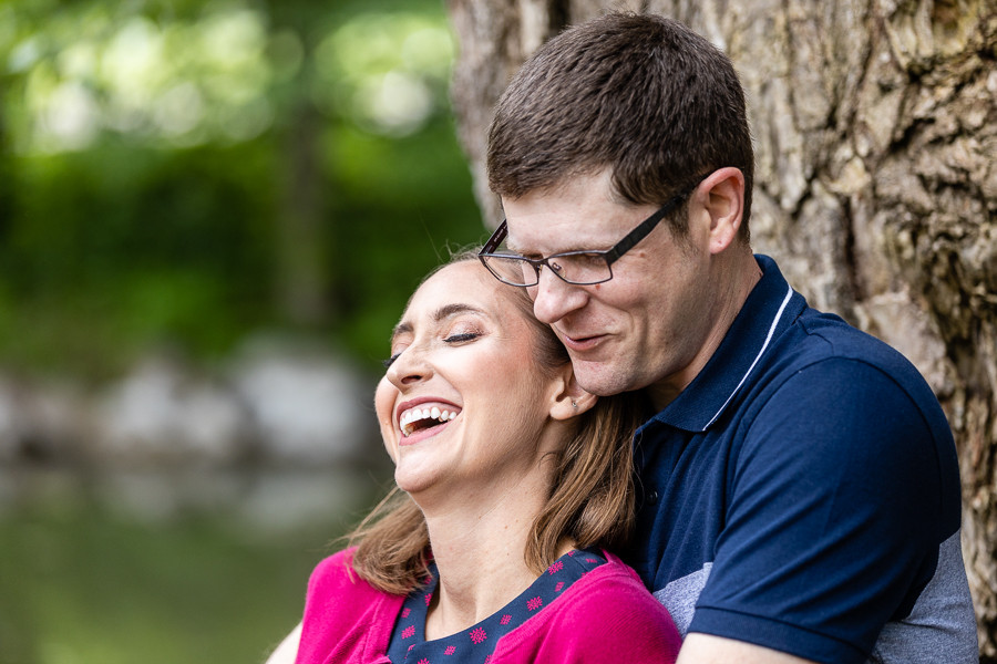 Relaxed Engagement Photo with Sable Park Photography