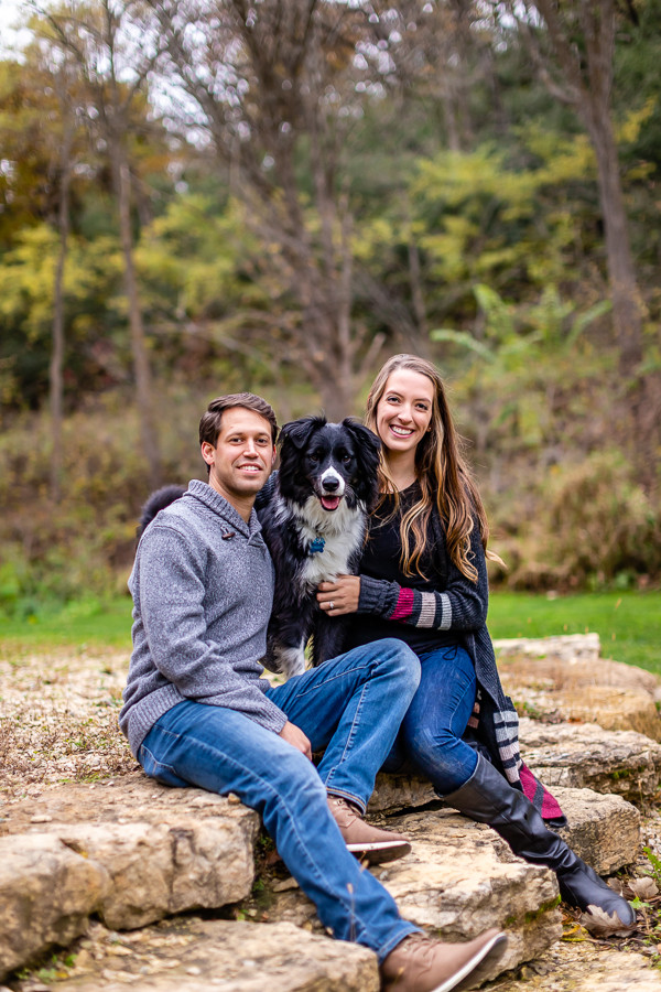Engagement Photos with Dogs - Sable Park Photography