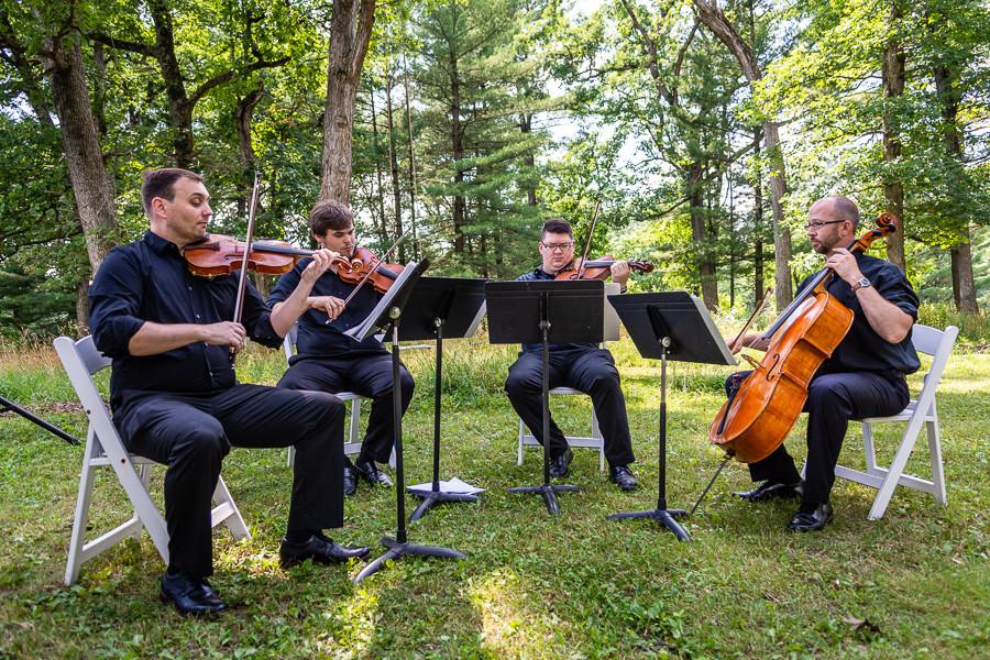 String Quartet Wedding - Sable Park Photography
