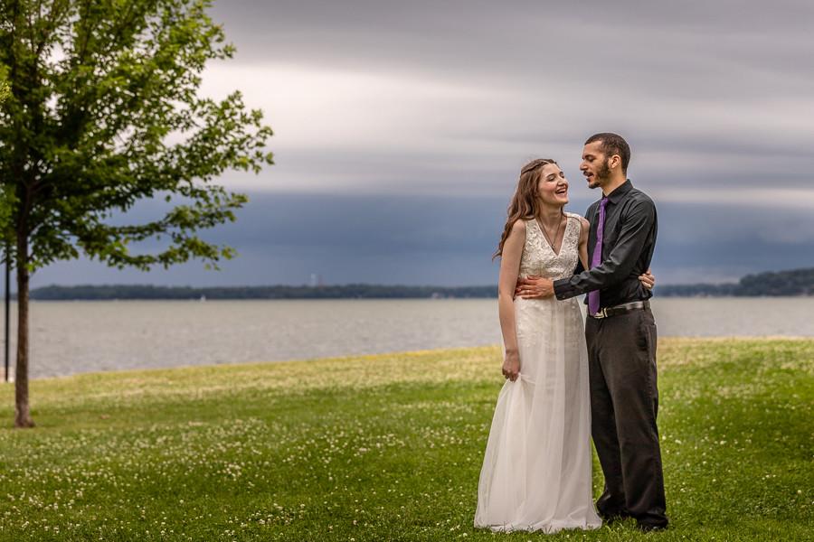 Lake Monona Wedding Photo
