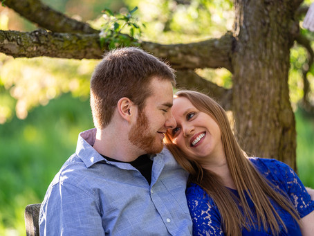 Chloe and Jordan Engagement Session in Olbrich Gardens/Park