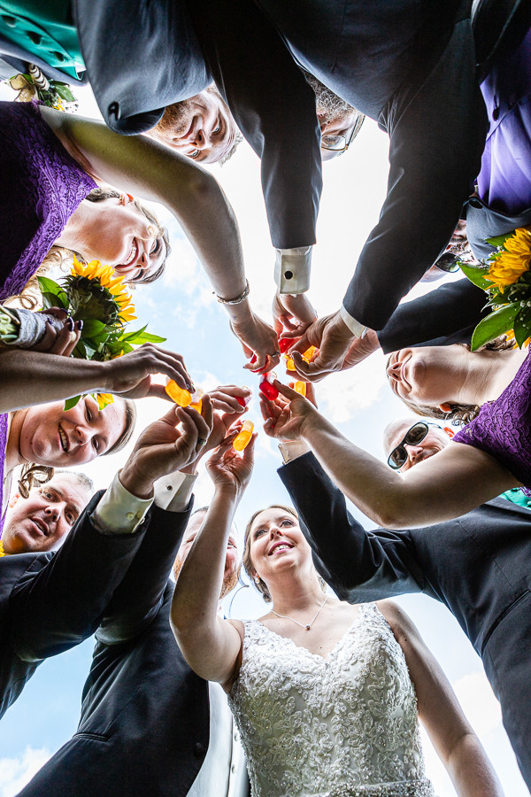 Wedding Party Toast - Sable Park Photography