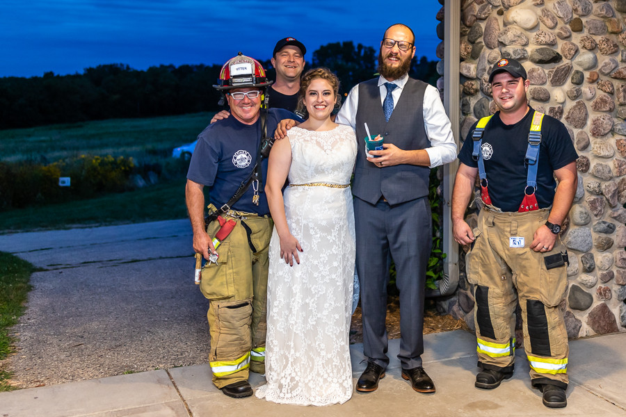 Madison Fire Department Crashes Wedding - Sable Park Photography