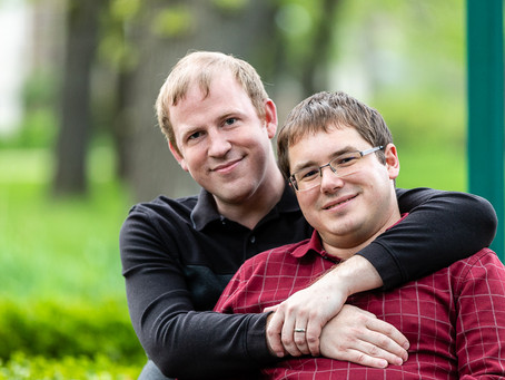 Mark and Philip Engagement Session in Beloit Wisconsin