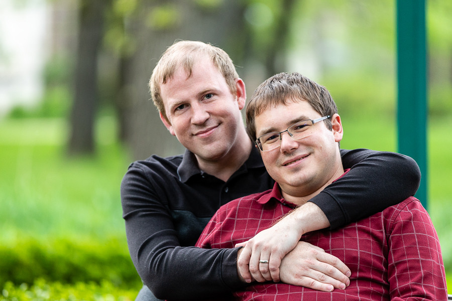 Mark and Philip Engagement Session - Beloit College