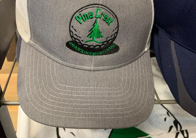 Hat with Pine Crest Logo