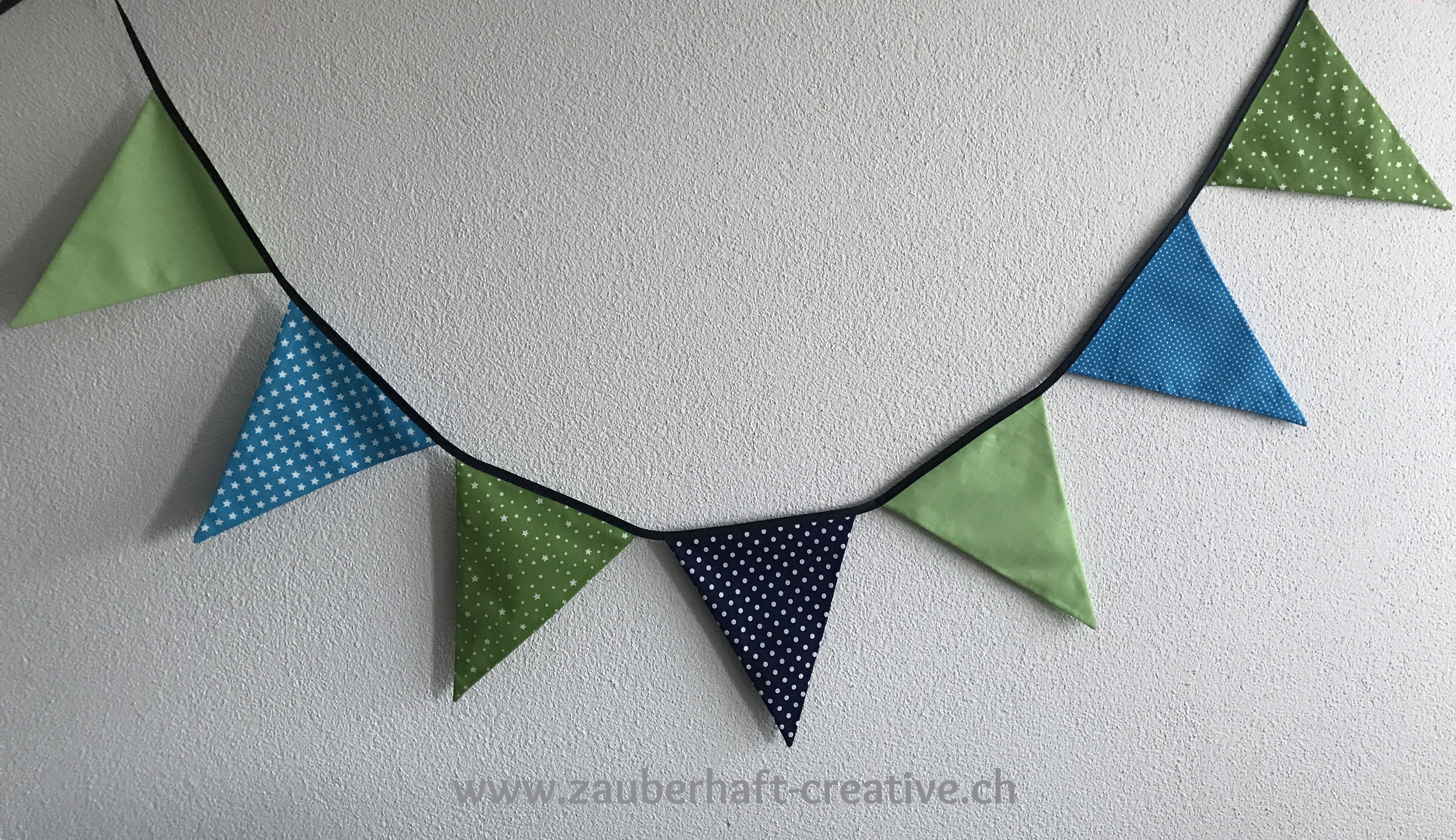 Wimpelkette türkis grün