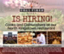 PCFP Hiring Cooks and Dishwashers North