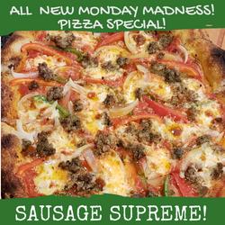 SAUSAGE SUPREME MONDAY PIZZA SPECIAL