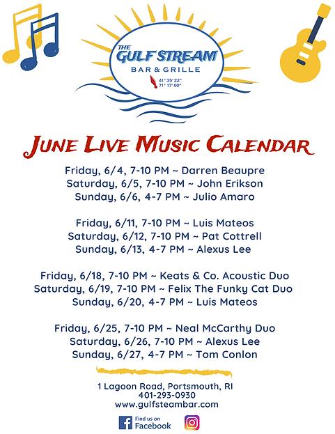 Gulf Stream Bar & Grille Monthly Live Mu