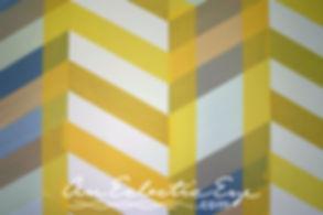 Diy multicolor herringbone wall