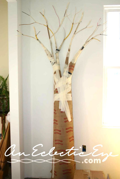 Diy fabric mache tree