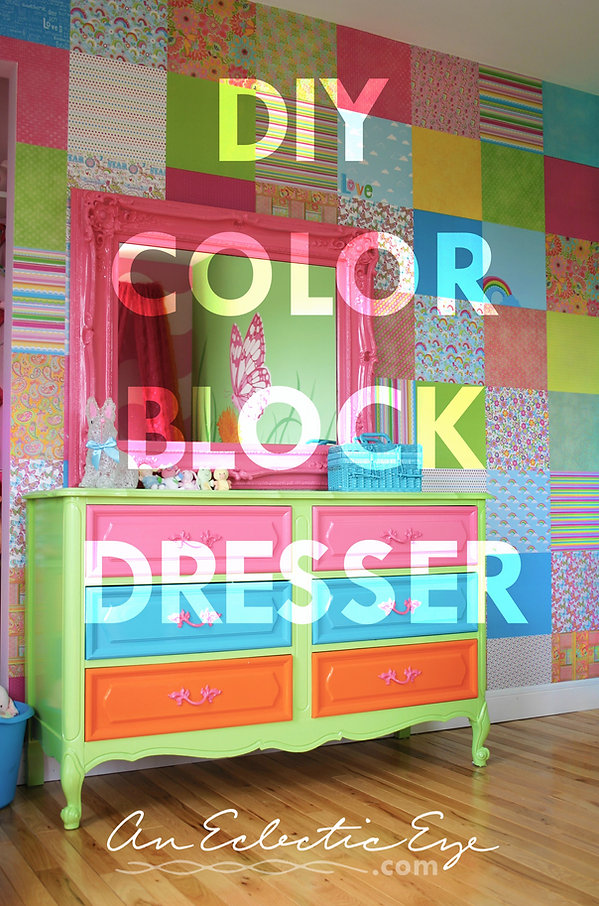 diy blockpainted dresser