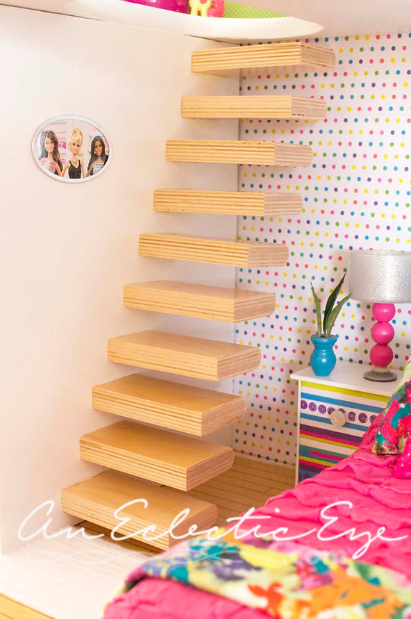 diy dollhouse stairs