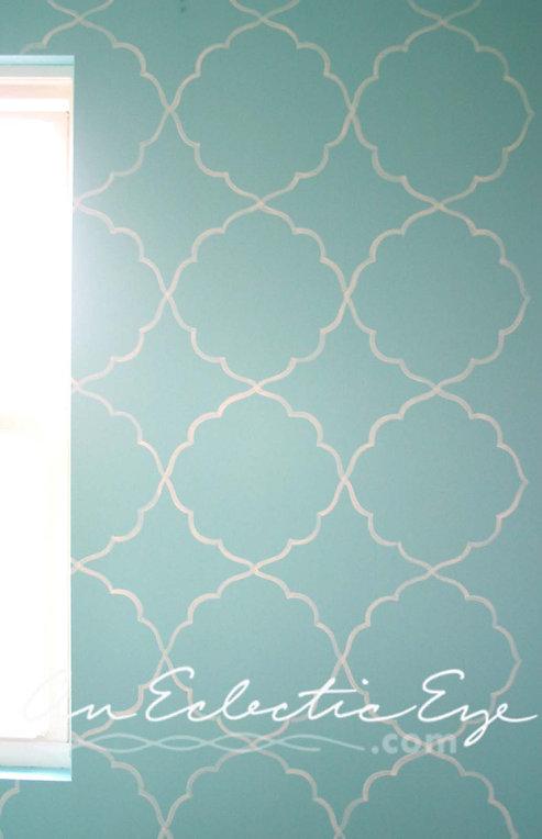 trace stencil wall diy