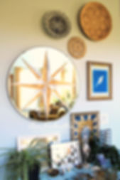 diy painted compass mirror