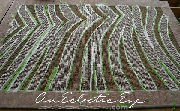 diy painted sisal rug