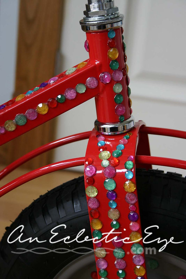 diy jeweled tricycle