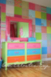 scrapbook paper wall