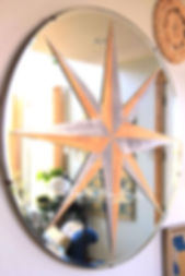 diy compass painted mirror