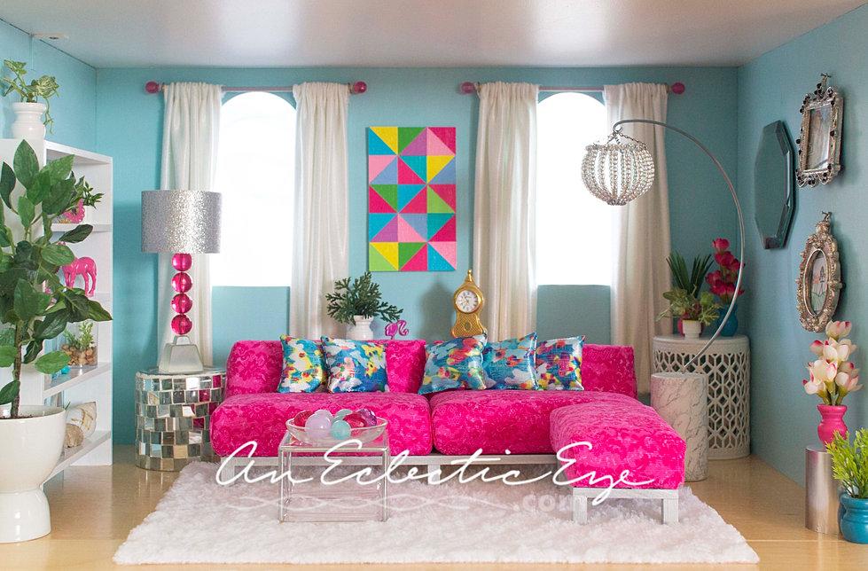 Beau Barbie 1:6 Scale Diorama Livingroom