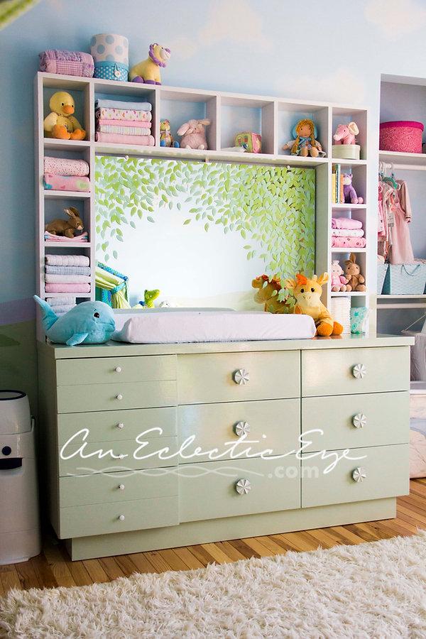 diy dresser shelf painted mirror