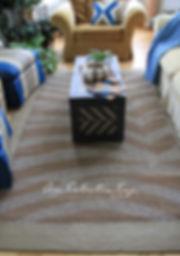 Diy painted sisal zebra rug