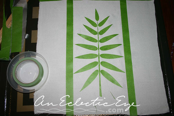 diy painted pillow frogtape