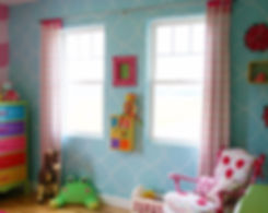 crazy colorful girls room