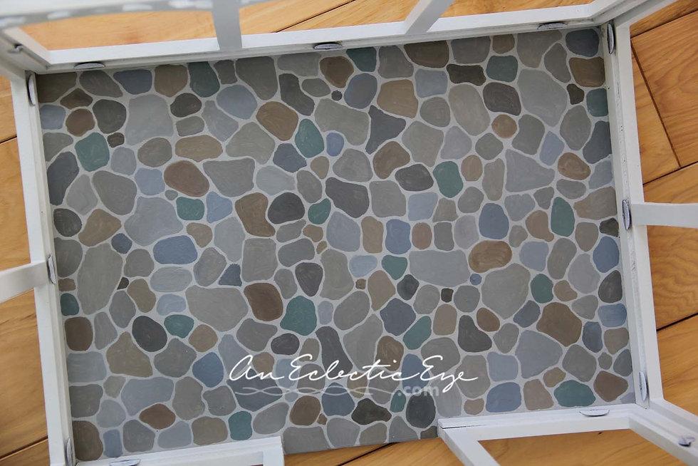 painted miniature stone floor