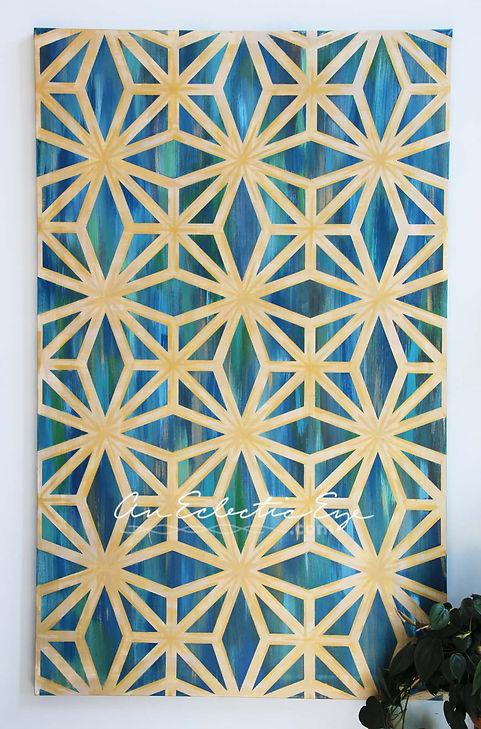 Diy geometric painting tape