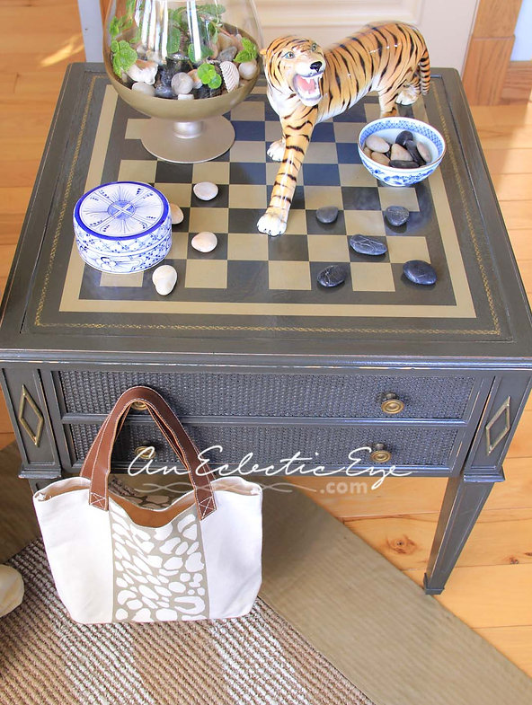 diy painted checkerboard table