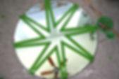 frogtape diy painted mirror