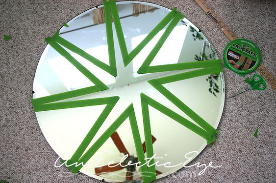 frogtape diy painted mirror