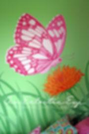 butterfly mural