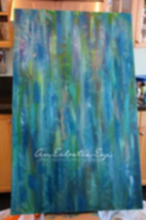 Diy geometric painters tape painting