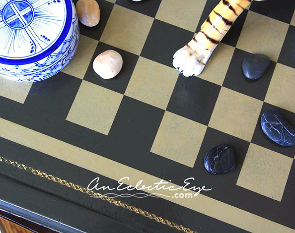 diy painted checkerboad table
