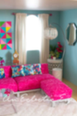 Barbie diy livingroom