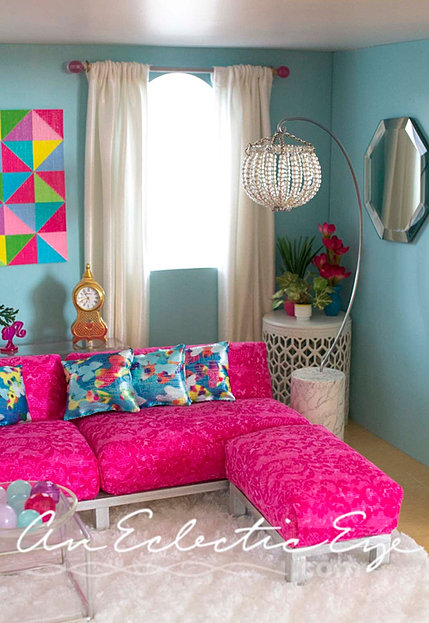 An Eclectic Eye Diy Barbie Livingroom
