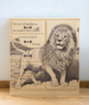 Sharpie Furniture Aesop DIY Lion and Mouse Fable