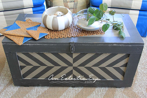 alternating striped painted trunk
