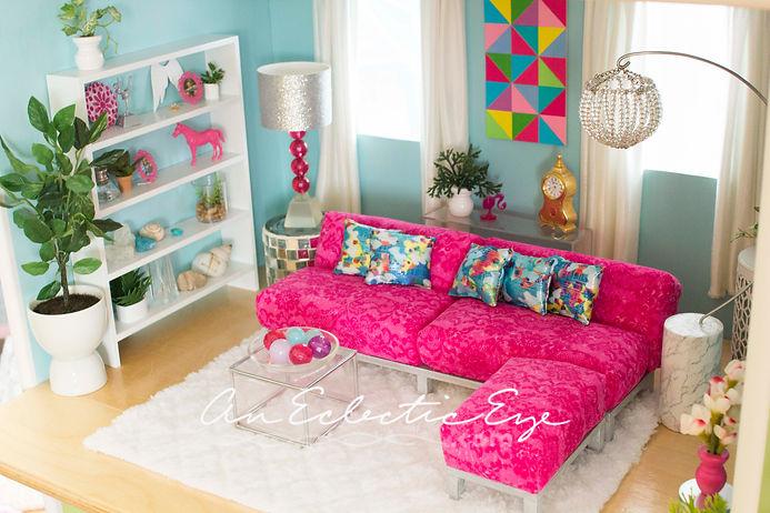Barbie 1:6 scale livingroom DIY