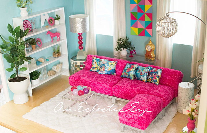 barbie living room an eclectic eye diy livingroom 10758