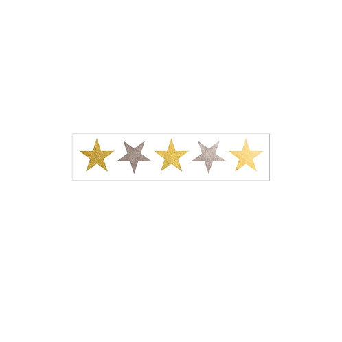 Gold & Silver Stars - 2 Pack
