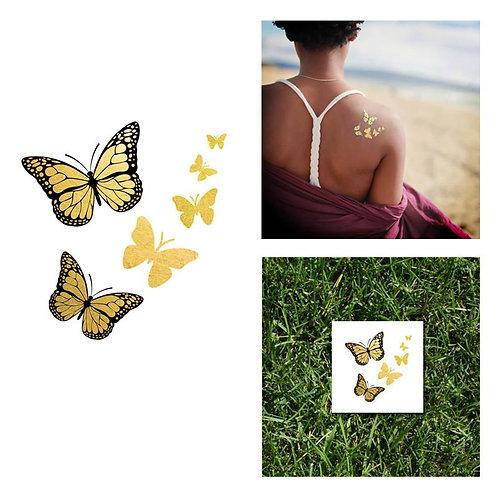 Gold & Black Monarch Butterflies