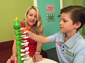 Playing a game in speech therapy at SOS Therapy and Learning Centre Perth WA