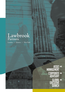 LAWBROOK PARTNERS: CORPORATE BROCHURE COVER