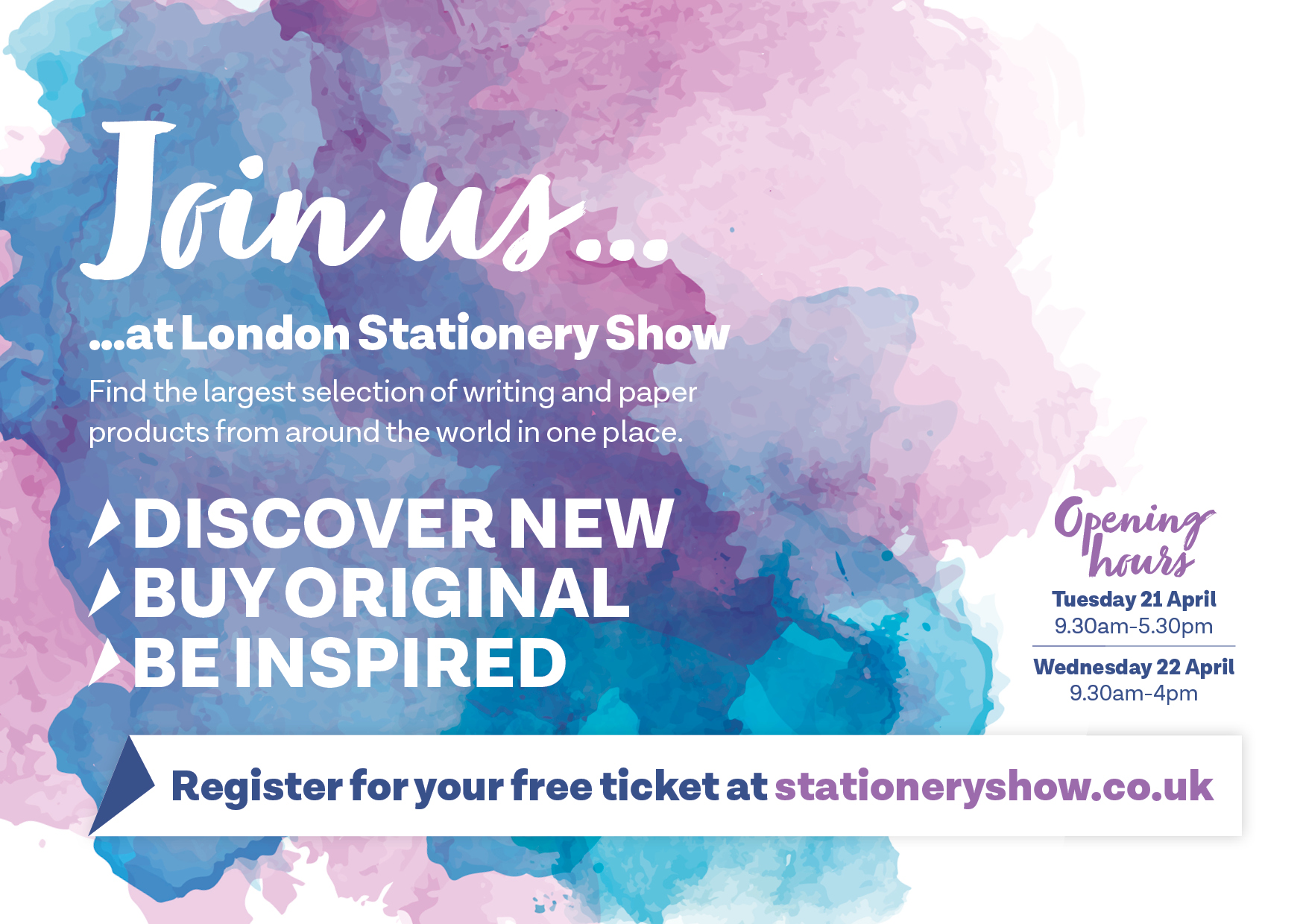 LONDON STATIONERY SHOW: POSTCARD