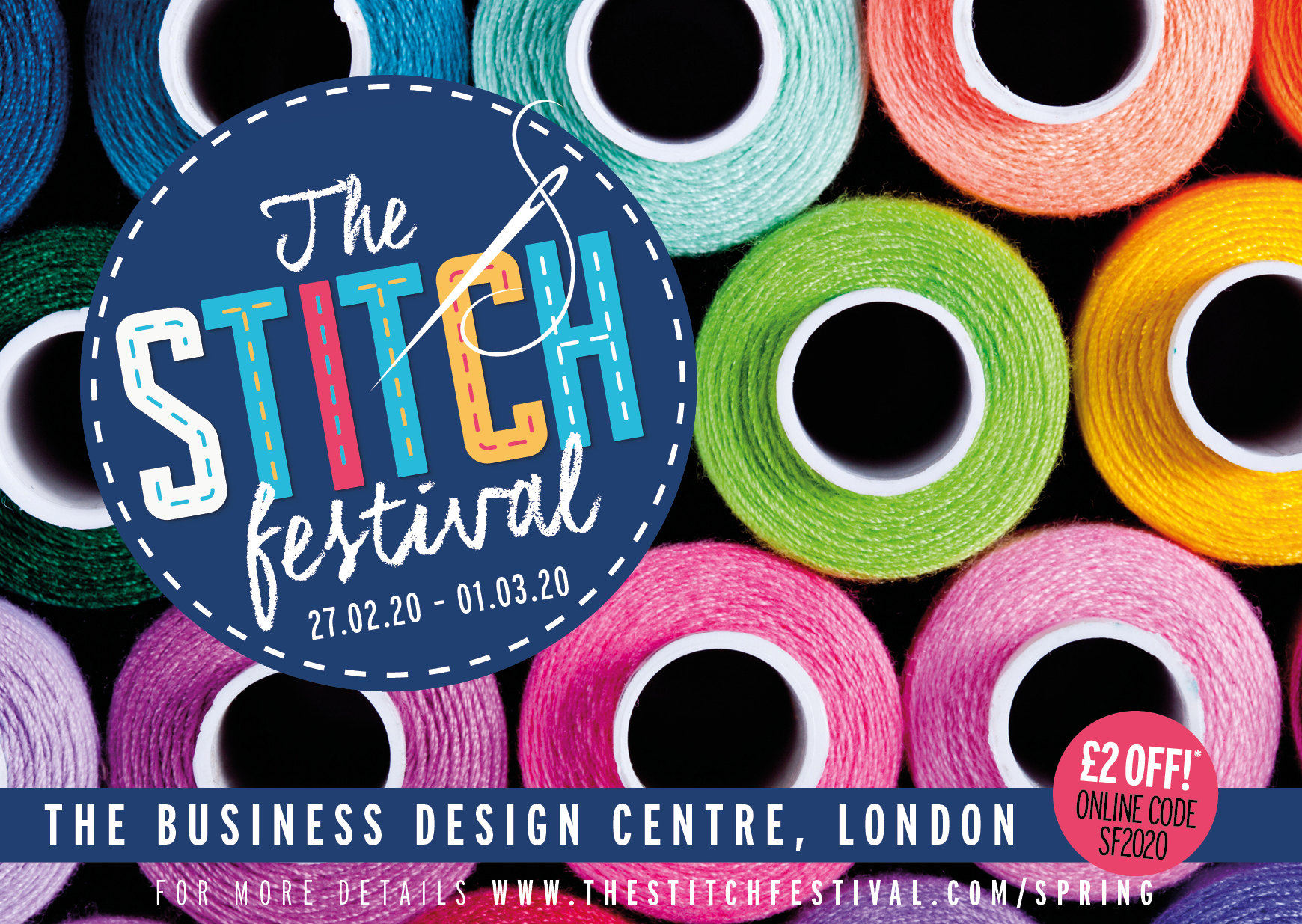 THE STITCH FESTIVAL: A6 LEAFLET